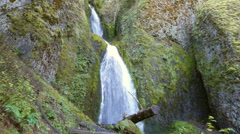 Wahkeena Falls Oregon Stock Footage