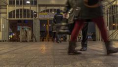 Timelapse Berlin, Bahnhof Warschauer Straße Stock Footage