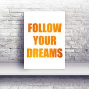 Stock Photo of Follow your dreams