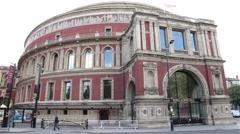 Royal Albert Hall in London - stock footage