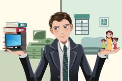Busy businesswoman Stock Illustration