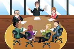 Business meeting - stock illustration