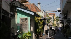 Narrow street in Ampel Arab quarter,Surabaya,Java,Indonesia Stock Footage