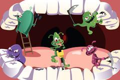 Teeth cavity Stock Illustration
