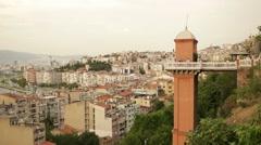 Izmir city center Asansor Stock Footage