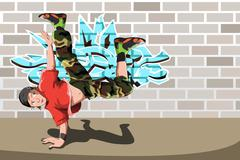 Stock Illustration of Hip-hop dancer