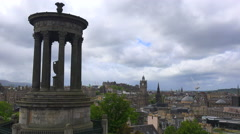 A beautiful time lapse shot of clouds over the Edinburgh, Scotland skyline. Stock Footage