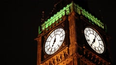 Big Ben at night Stock Footage