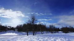 4K Winder day - Christmas Eve - Timelapse - stock footage