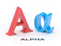 Alpha Greek Symbol - stock illustration