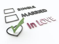 Lovers Marital Survey on White Background Stock Illustration