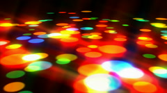 Disco lights dance floor Stock Footage