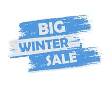 Big winter sale Stock Illustration