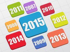 new year 2015 - stock illustration