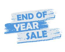 End of year sale Stock Illustration