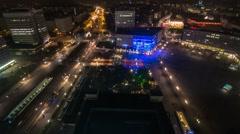Timelapse Berlin Alexanderplatz von oben Stock Footage