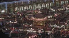 Striezelmarkt Dresden Christmas Market Timelapse Germany 25 Stock Footage
