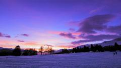 4K Winter Christmas sunset - timelapse Stock Footage
