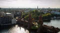 Hyperlapse Berlin, Oberbaumbrücke in Motion Arkistovideo