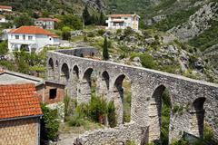 Ruins of an aqueduct in Old Bar (Stary Bar), Montenegro Stock Photos
