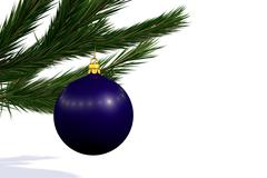 blue Christmas decoration ball - stock illustration