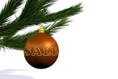 orange Christmas decoration ball  sale - stock illustration