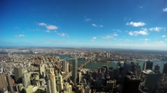 East River from One World Trade Tower Stock Footage