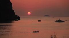 Sunset Phi Phi islands Stock Footage