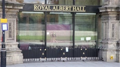 Entrance from Royal Albert Hall Stock Footage