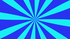 4k retro pinwheel, hypnotic swirl, vintage sunburst - blue and cyan - stock footage