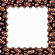 Brown and Black Football Frame Background - stock illustration