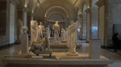 Paris Louvre museum - Greek quarter Stock Footage