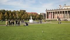 Lustgarten and Altes Museum, Berlin Stock Footage
