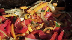 Grilled vegetables Stock Footage