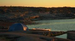 Stockholm archipelago. Sunrise over Tärnskär - stock footage