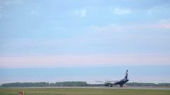 Airbus 321 VP-BQS Aeroflot take-off Stock Footage