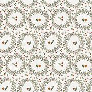 Seamless floral pattern of curved spring vine Stock Illustration