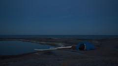 Stockholm archipelago. Moonlight over Tärnskär Stock Footage