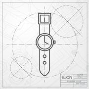 Clock icon - stock illustration