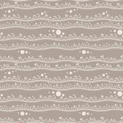 Seamless pattern of stripes with sprouts - stock illustration