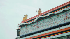 Grand Sutra Hall of the Labrang Monastery, Xiahe, China - stock footage