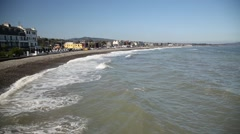 Scenery in Bray, Co. Wicklow, Ireland Stock Footage