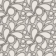 Seamless pattern of stylized petals - stock illustration
