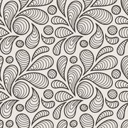 Seamless pattern of stylized petals - stock illustration