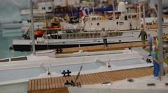 Yachts at a marina - Yacht Club - Hobby model Stock Footage