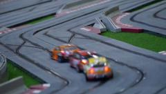 Model race cars on the racing track - Hobby model Arkistovideo