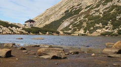 Mountain hut Refugio Frey Stock Footage