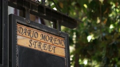 Izmir Dario Moreno street sign - stock footage