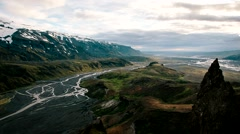 Mountain Clouds Iceland Stock Footage