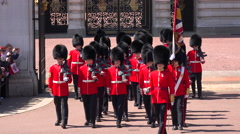 The changing of the guard at Buckingham Palace, London. Stock Footage